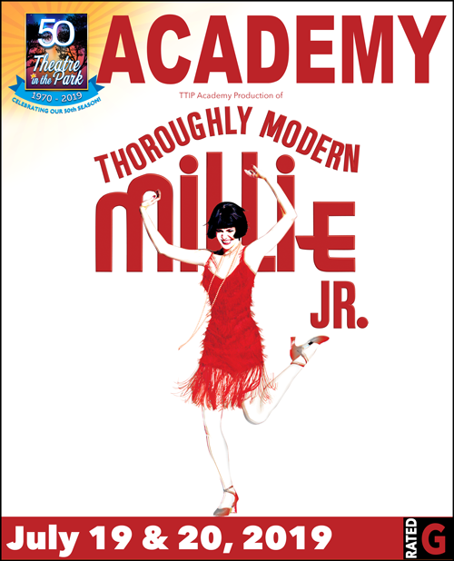 Thoroughly Modern Millie jr show poster