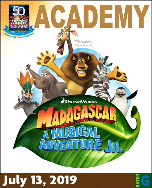 Madagascar Jr. July Show Poster