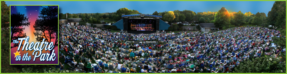 Picture of crowd at theatre amphitheater in Shawnee Mission Park